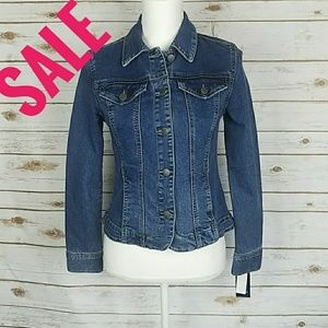 Charter Club Button Down Denim Jacket